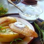 Ziemniaki z farszem ziołowym