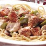 Spaghetti w potrawce z drobiu